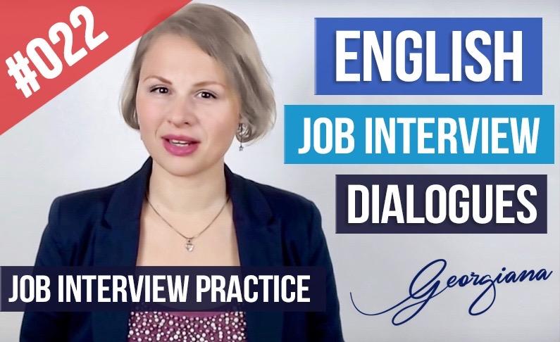 #022 Ejemplos Diálogos Entrevista de trabajo en Inglés